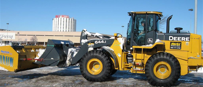Large Scale Commercial Parking Lot Snow Removal