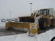 Large Parking Lot Snow Clearing in Action