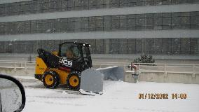 Rubber Edge Snow Pusher