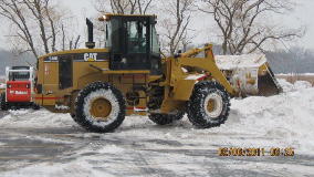 Rubber Tire Snow Loader